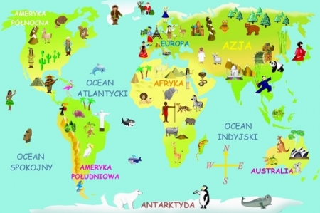 Poznajemy części świata!
