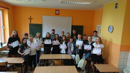 Sukces Dawida Kaźmierczaka w Gminnym Konkursie Języka Angielskiego w Starej Kr